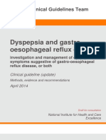 clinical guidelines on dyspepsia and Gerd 2014
