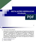 Aula 01 - Curso de Instalações Hidráulicas - Introdução a Instalações Hidráulicas