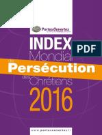 Index Mondial de Persécution des Chrétiens