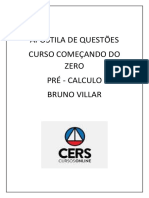 APOSTILA Comecando Do Zero Pre Calculo Bruno Villar PDF
