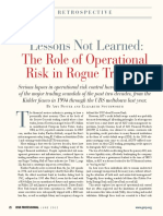 The Role of Operational Risk in Rogue Trading