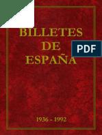 Billetes de España 1936 - 1992