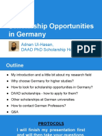 Scholarship Opportunities in Germany Adnan Ul Hassan Lect 4