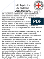UN Field Trip Letter