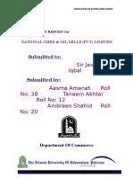 Civil Works Estimate Calculation - National Ghee & Oil Mill