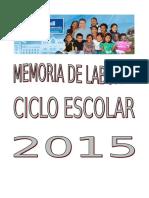 Modelo de Memoria de Labores