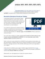 Detrazione Caldaia 36% 40% 50% 55% 65%_ Detrazioni Fiscali Caldaie 2015 2016