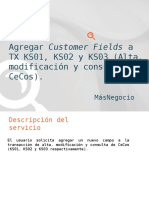 Agregar Customer Fields a KS01, KS02 y KS03