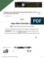 Super Moist Chocolate Cake Recipe - Food
