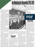 13-01-16 Consultará Adrián Plan Municipal de Desarrollo 2015-2018