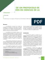Revista Andaluza PD 2010 - Redacción de Un Protocolo de Investigación en Ciencias de La Salud