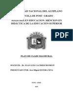 Plan de Trabajo Clase Magistral