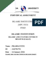 Islamic and Culture Centre in Belgium