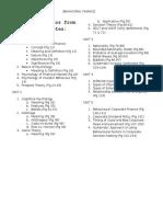 Important Topics of Behavioral Finance