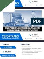 CEFORTRANS Diplomado en Transporte 16 Enero