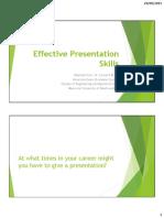 ENGI9100 Effective Presentation Skills
