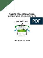 Plan de Desarrollo Rural Toliman Jalisco