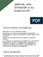 Objetivos, Una Aproximación a Su Construcción