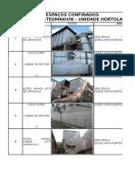 Inventario de Espaços confinados da Empresa de Manutenção