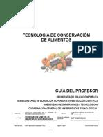 Tecnologia de Conservacion de Alimentos