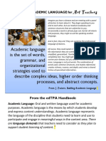 A Primer on Academic Language for Art Teachers