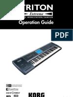 Korg Triton Extreme Operation Guide