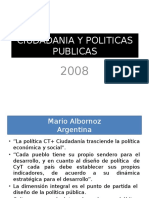 Ciudadania y Politicas Publicas