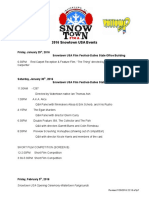 2016 Snowtown USA Events