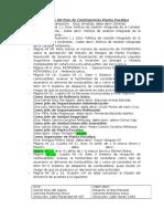Observaciones a Borrador de Plan de Contingencias Planta Pucallpa