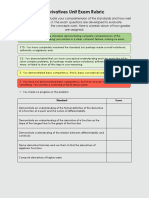 derivatives unit exam rubric