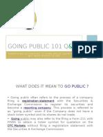 Going Public 101 Q & A