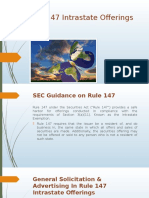 SEC Guidance on Rule 147 Intrastate Offerings &