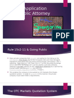 15c2-11 Application Going Public Attorney