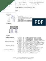 AA-SM-026-002 Beam Analysis - Single Span No Moments, Single Case