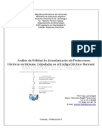 Análisis de Utilidad de Estandarización de Protecciones Eléctricas en Motores, Estipuladas en El Código Eléctrico Nacional (José Ángel Pérez León)