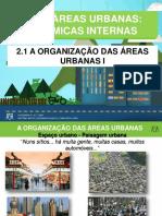 A organização das  das áreas urbanas - 15-16