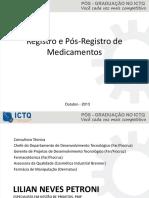 Registro e Pos Registro de Medicamentos
