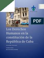 Derechos Humanos en la Constitución de la República de Cuba