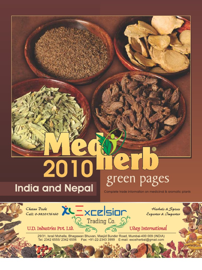 Medherb Green Pages 2010 - India and Nepal | Herbalism