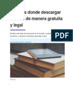 10 Sitios Donde Descargar eBooks de Manera Gratuita y Legal