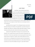 mr keyes - andy warhol report