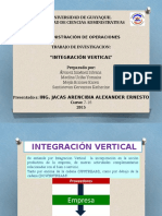Beneficios de La Integracion Vertical y
