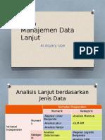 Manajemen Data Lanjut
