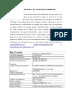 Formulario Para La Solicitud de Visa Americana Jose Diaz