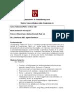 Trad - Traduccion Tecnica I- Sierra - 2º 2015 - Cohorte 2015