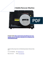 Manual for MT 3 in 1 Air Bubble Remover Machine