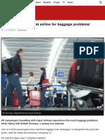 British Airways 'Worst Airline for Baggage Problems' - BBC News