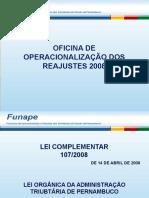 Oficina de Operacionalização Dos Reajustes 2008