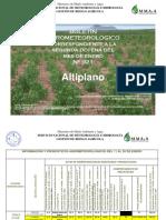 BOLETÍN AGROMETEOROLOGICO Correspondiente a La 2da. Decena del Mes de Enero 2016-Nº 921-Altiplano