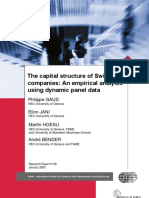 The Capital Structure of Swiss Companies an Empirical Analysis